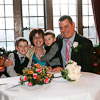 wedding couple and their family ar Broadoaks Country House Hotel Windermere Cumbria